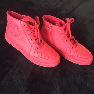 Gucci Bright Pink High Tops